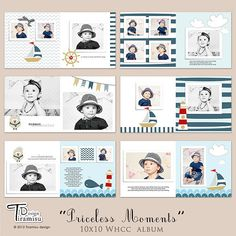 10x10 Whcc Photobook Templates Priceless Moments by TiramisuDesign, $20.00