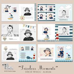 Álbum 10 x 10 álbumes de fotos Photoshop por TiramisuDesign en Etsy