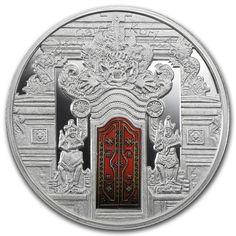2012 Fiji 25 gr $10 silver coin - Kori Agung temple gates.