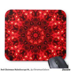 Red Christmas Kaleidoscope Mousepad