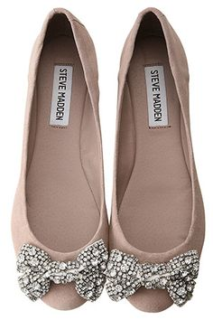 Steve Madden flats with sparkle bows
