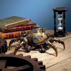 Octopod Mechanical Steampunk Sculpture - All About Decoration Robots Steampunk, Design Steampunk, Steampunk Kunst, Steampunk Gadgets, Steampunk Diy, Steampunk Fashion, Steampunk Clothing, Steampunk Machines, Steampunk Home Decor