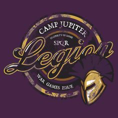 'Camp Jupiter Legion' T-Shirt by Rachael Raymer Percy Jackson Art, Percy Jackson Fandom, Purple T Shirts, Orange T Shirts, Rick Riordan, Blood Of Olympus, Camp Jupiter, Aesthetic Shirts, Capture The Flag