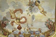 Ausschnitt aus dem Deckengemälde des Blumenzimmers in Schloss Favorite Rastatt