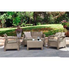 Záhradné zostavy nábytku Corfu v dizajne umelý ratan.  Jedná sa o štýlové zostavy záhradného nábytku vyrobeného z UV odolného plastu. Ponúkame rôzne cenovo výhodné kombinácie, ktoré sme obohatili aj o drevené stoly vlastnej výroby s povrchovou úpravou, ktorá sa hodí k dizajnu umelý ratan.