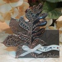 Craft Metal Leaves Place Card from StampsAndScrapbooks.com