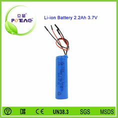 3.7v 2200mAh li-ion battery pack