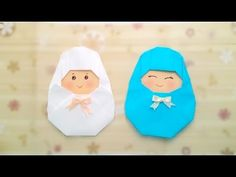 Origami Babies:-How to make an origami Babies easy Making Step-by-Step Gato Origami, Kids Origami, Origami Dress, Origami And Kirigami, Origami Paper Art, Paper Crafts, Origami Modular, Origami Folding, Origami Nativity