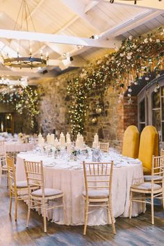 A rustic barn wedding that will have you falling in love again. We love the way this bride and groom mixed in modern and rustic wedding details together to create a dreamy wedding day. They used the most romantic colors and twinkling lights to create an unforgettable atmosphere.  #rusticwedding #weddingvenue #irelandvenue #weddingideas