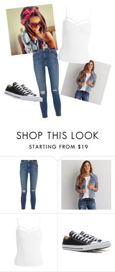 """Geen titel #69"" by trendygirlxx on Polyvore featuring mode, Frame Denim, American Eagle Outfitters, Sans Souci en Converse"