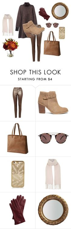 """""""Untitled #990"""" by keepsakedesignbycmm on Polyvore featuring Sole Society, SOREL, Oliver Peoples, Topshop, Mark & Graham, Hermès and Nearly Natural"""
