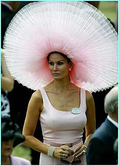 OH MY! No, you can be assured I'll never come to church with this on my head-I wouldn't even fit through the door!