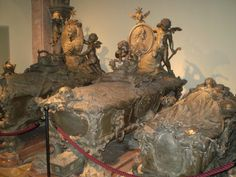 Hapsburg Crypts, Vienna, Austria.  These are a little creepy...