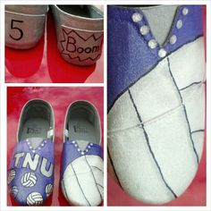 canvas shoes Painted College Volleyball canvas shoes comfortable shoes