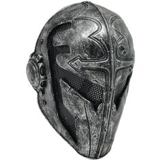 Brooptical(TM) Cool Knights Templar Protective Wire Mesh Mask for Airsoft Paintball Display Armadura Cosplay, Paintball Mask, Airsoft Mask, Helmet Armor, Armadura Medieval, Templer, Armor Concept, Fantasy Armor, Body Armor