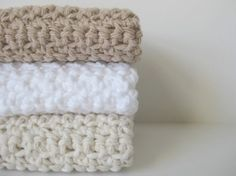 cotton crochet dishcloths AND you can pick the colors. $10.00, via Etsy.