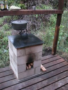 Sensible Simplicity: The Rocket Stove with griddle top for outdoor use.