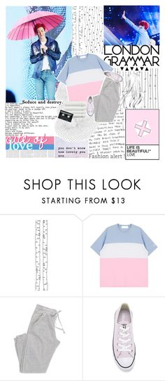"""""""seduce [tag]"""" by blue-park ❤ liked on Polyvore featuring ferm LIVING, Converse, Linum Home Textiles, CASSETTE, vintage, Tag, EXO and chanyeol"""