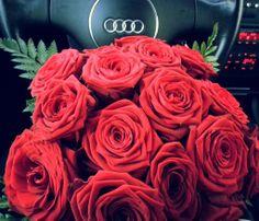 #Audi #red #roses #Love