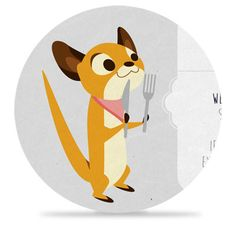 6 Hungry Weasels by Małgorzata Sadza, via Behance