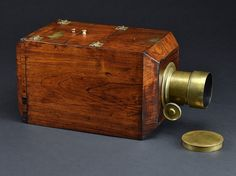 Antique Camera: c.1850 American-Style Chamfered Daguerreotype 1/2-plate camera. Capturing light to create permanent images is the ultimate goal of photography, and some of the most interesting early equipment built to capture light was made during the first stage of photographic technology - the daguerreotype era from 1839 to the early 1850s. Cameras of this time were often constructed with the same care as fine furniture.