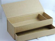 Modèles de bricolage, Boite à crayons en carton, 2 tiroirs est une création orginale de MilyD sur DaWanda