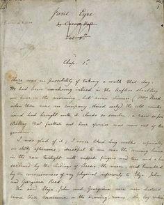 Jane Eyre manuscript, Chapter One.