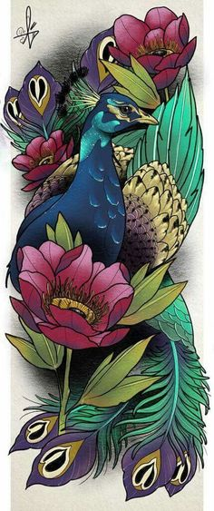 39 Trendy Tattoo Thigh Hip Ideas Tatoo - Leonora Metz Home Body Art Tattoos, Sleeve Tattoos, Peacock Tattoo Sleeve, Spine Tattoos, Tattoos Skull, Arabic Tattoos, Key Tattoos, Dragon Tattoos, Foot Tattoos