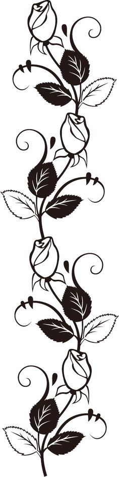 Rose and vines stencil.