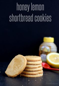 These honey lemon shortbread cookies are dainty but even the manly man in your life will love the light but powerful flavors. Cookie Desserts, Just Desserts, Cookie Recipes, Delicious Desserts, Dessert Recipes, Yummy Food, Bar Recipes, Baking Recipes, Biscuit Cookies
