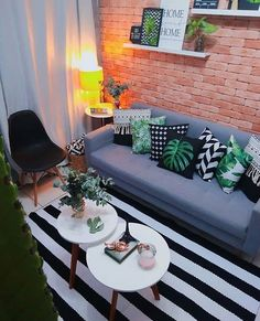 26 Awesome Design Ideas for a Small Living Room .- 26 Awesome Design Ideas for a Small Living Room - Small Apartment Interior, Interior Design Living Room, Living Room Designs, Living Room On A Budget, Living Room Decor, Creative Decor, Small Living, Home Decor, Rustic Style