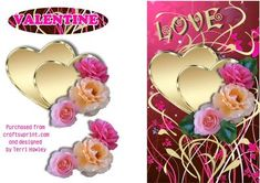 """A lovely card to send to him or her on valentines day, as the words, Valentine are not actually on the card, ( there is a label ) it can be used for other reasons as well, as the only words on the card are """"love"""". There is an insert to match called insert valentine 1 cup392776_906. have fun"""