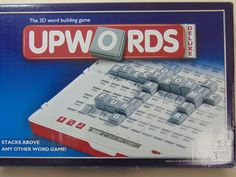 Upwords Deluxe Electronic 3D Word Building - Parker Family Game Contents Sealed