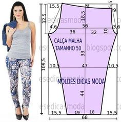 Risultati immagini per moldesedicasmoda Dress Sewing Patterns, Sewing Patterns Free, Sewing Tutorials, Clothing Patterns, Sewing Diy, Baby Sewing, Sewing Pants, Sewing Clothes, Diy Clothes