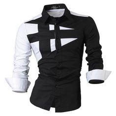 110dc7b883bb3 Long-Sleeve Men s Design Fashion Dress Shirt. Mode HommeChemise ...