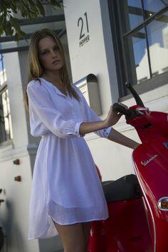 Cotton Blouson Dress White Cape Town, White Dress, Cool Stuff, Cotton, Shirts, Collection, Dresses, Fashion, Vestidos