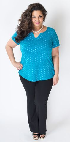 This color looks gorgeous against her skin! 95% Bamboo - Blue Sky Clothing Co