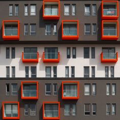 Eyup District, Istanbul, Turkey by Yener Torun Chinese Architecture, Facade Architecture, Contemporary Architecture, Futuristic Architecture, Facade Design, Exterior Design, Narrow House Designs, Building Painting, Social Housing