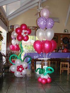 columnas de globos