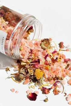 Shop Among The Flowers Premium Pink Salt Bath Soak at Urban Outfitters today. We carry all the latest styles, colors and brands for you to choose from right here. Bath Art, Bath Soak, Large Plants, Belleza Natural, Dried Flowers, Bath Flowers, Flower Petals, Pink Flowers, Potpourri