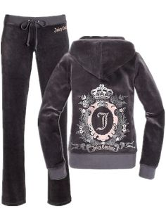 Juicy Couture Cameo Frame Velour Tracksuit Charcoal Grey. Deffinately going on my christmas list