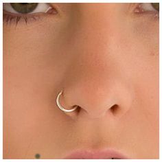 18 Gauge Nose Ring Solid Sterling Silver ❤ liked on Polyvore featuring jewelry, sterling silver jewelry and sterling silver jewellery