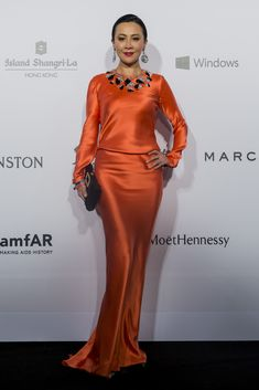 Carina Lau in Schiaparelli Couture at the amfAR Hong Kong Gala