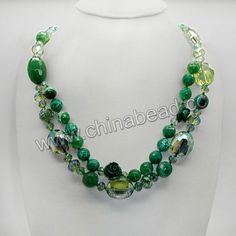 Fashion gemstone necklace, 12mm, 14mm faceted round and 20x28mm faceted drum green agate beads, 6x8mm and 8x12mm faceted rondelles and 20x24...