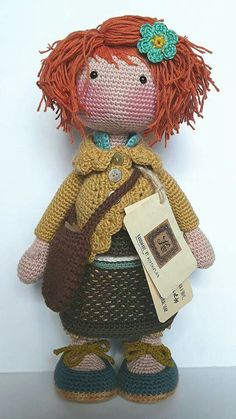 Crochet Doll Clothes, Sewing Dolls, Knitted Dolls, Crochet Dolls, Crochet Flor, Crochet Baby, Knit Crochet, Crochet Doll Pattern, Crochet Patterns