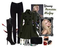 """""""Young Narcissa Malfoy"""" by evii-chase ❤ liked on Polyvore featuring Lee, Chanel, Sergio Rossi, Jack Vartanian, Boucheron, Charlotte Tilbury, women's clothing, women's fashion, women and female"""