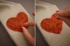While perusing Pinterest one evening, I came across an intriguing tutorial on the wonderful art of needle felting. I had to learn more - especially after realizing it entailed repeatedly stabbing a needle up and down into a piece of fabric or sweater. A satisfying stress reliever that results in