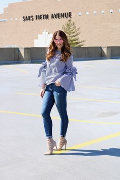 Indianapolis Style Blog | Regally Soled: Spring 2017 Trend: Navy & White Stripes