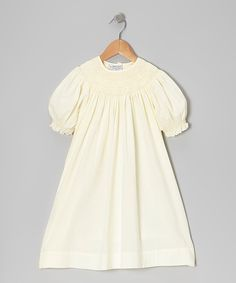 Take a look at this Sweet Dreams Vanilla Catherine Pearl Bishop Dress - Toddler & Girls on zulily today!
