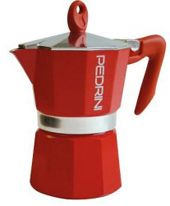 Гейзерная кофеварка Pedrini 3 п. 9123 red